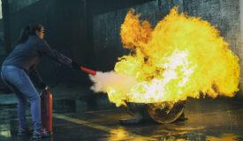 extinguishing a fire